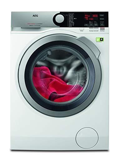 AEG L8FE74485 Waschmaschine / ProSteam – Auffrischfunktion / ÖKOMix – Faserschutz / 8,0 kg / Leise / Mengenautomatik / Nachlegefunktion / Kindersicherung / Schontrommel / Allergikerfreundlich