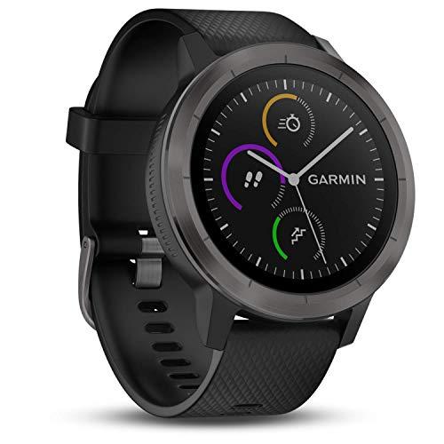 Garmin vívoactive 3 GPS-Fitness-Smartwatch – vorinstallierte Sport-Apps, kontaktloses Bezahlen mit Garmin Pay, Gunmetal